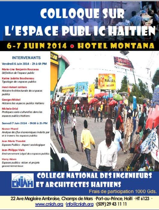 Colloque sur l'Espace Public Haïtien par le CNIAH les 6 et 7 Juin 2014